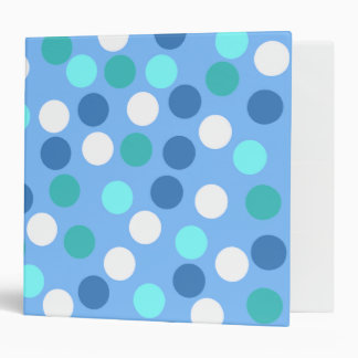 Blue Polka Dot Binder