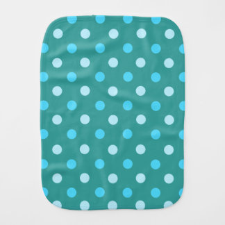 Blue Polka Dot Burp Cloth