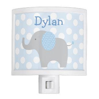Blue Polka Dot Elephant Nursery Night Lights