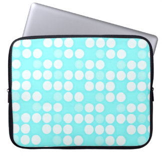 Blue Polka Dot Laptop Sleeve 15 inch