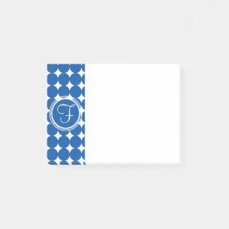 Blue Polka Dot Monogram Post-it Notes