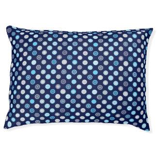 Blue Polka Dot Winter Pattern Dog Bed Large Dog Bed