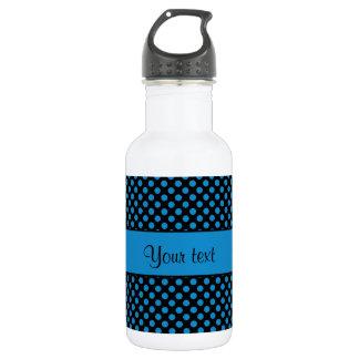 Blue Polka Dots 532 Ml Water Bottle