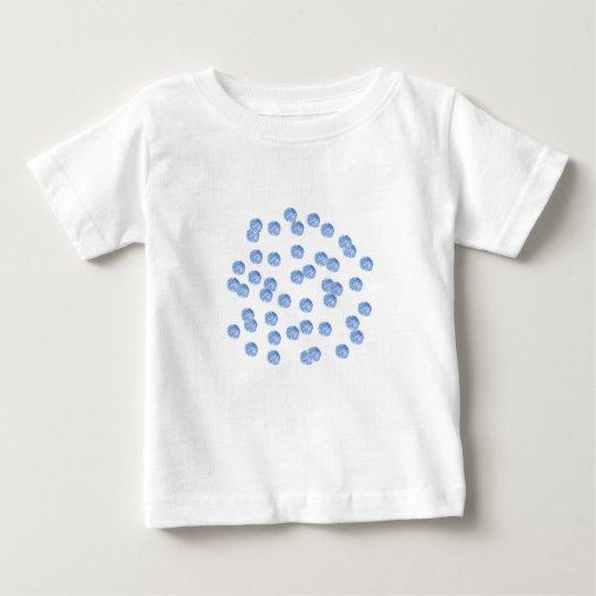 Blue Polka Dots Baby T-Shirt