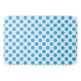 Blue Polka Dots Bath Mat