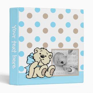 Blue Polka Dots Bear Baby Book Vinyl Binders