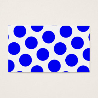 Blue Polka Dots Business Card
