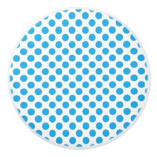 Blue Polka Dots Ceramic Knob