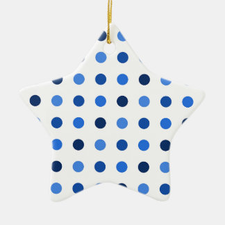 Blue Polka-dots Ceramic Star Ornament