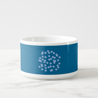 Blue Polka Dots Chili Bowl