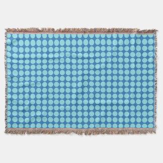 Blue Polka Dots Circle Polkadot Pattern Polkadot Throw Blanket