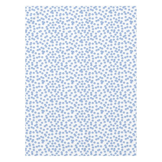 Blue Polka Dots Cotton Tablecloth 52'' x 70''