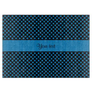 Blue Polka Dots Cutting Board