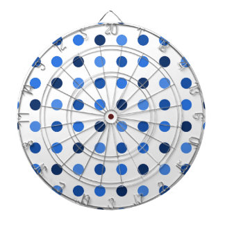 Blue Polka-dots Dartboard