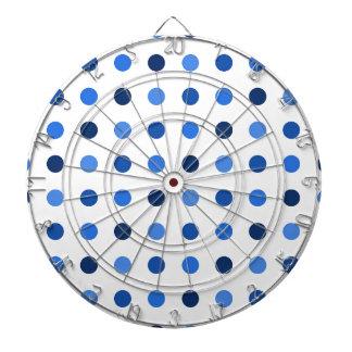 Blue polka dots dartboard