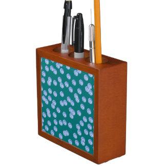 Blue Polka Dots Desk Organizer