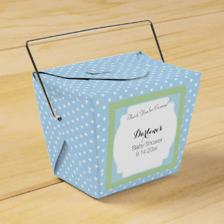 Blue Polka Dots Favor Box