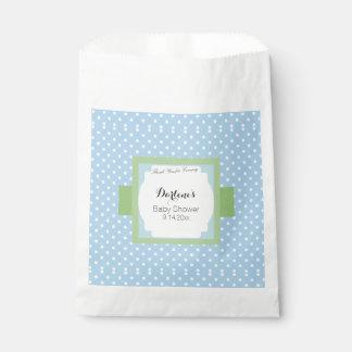 Blue Polka Dots Favour Bag