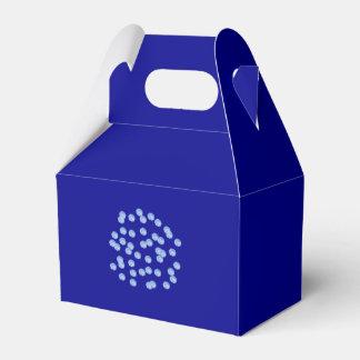 Blue Polka Dots Gable Favor Box