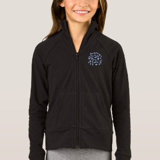 Blue Polka Dots Girls' Practice Jacket