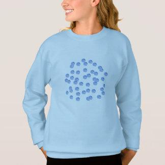 Blue Polka Dots Girls' Sweatshirt