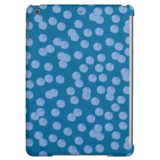 Blue Polka Dots Glossy iPad Air Case