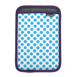 Blue Polka Dots iPad Mini Sleeve