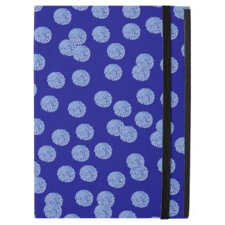 Blue Polka Dots iPad Pro Case with No Kickstand