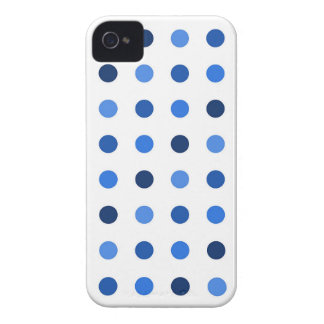 Blue Polka-dots iPhone 4 Covers