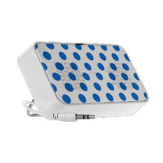 Blue polka dots iPod speakers
