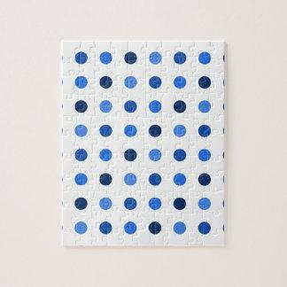 Blue Polka-dots Jigsaw Puzzle