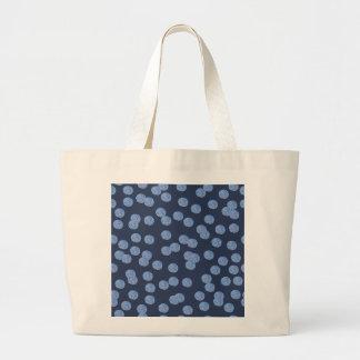 Blue Polka Dots Jumbo Tote
