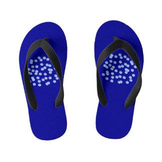 Blue Polka Dots Kids' Flip Flops