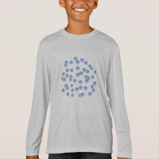 Blue Polka Dots Kids' Sports Long Sleeve T-Shirt