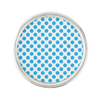 Blue Polka Dots Lapel Pin