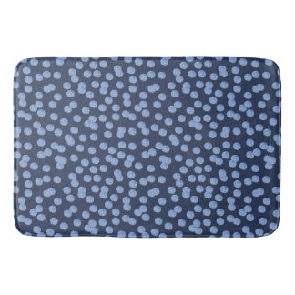 Blue Polka Dots Large Bath Mat