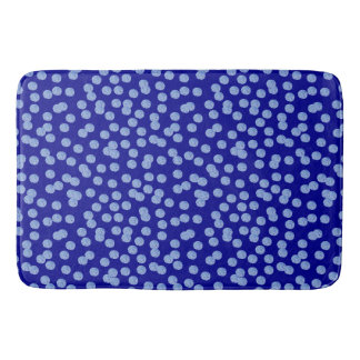 Blue Polka Dots Large Bath Mat