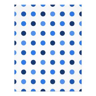 Blue polka dots letterhead