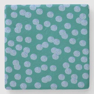 Blue Polka Dots Limestone Coaster Stone Coaster