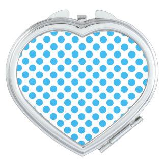 Blue Polka Dots Makeup Mirrors