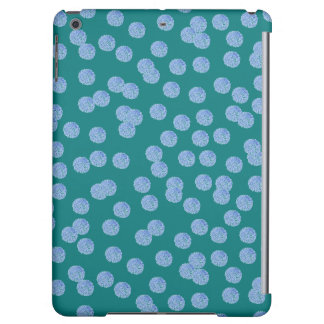 Blue Polka Dots Matte iPad Air Case