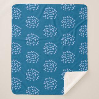 Blue Polka Dots Medium Sherpa Blanket