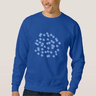 Blue Polka Dots Men's Basic Sweatshirt