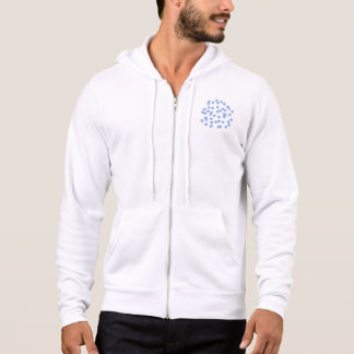 Blue Polka Dots Men's Full-Zip Hoodie