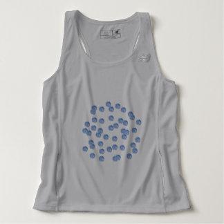 Blue Polka Dots Men's Running Tank Top
