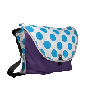 Blue Polka Dots Messenger Bag