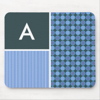 Blue Polka Dots Mouse Pad