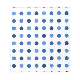Blue polka dots notepad