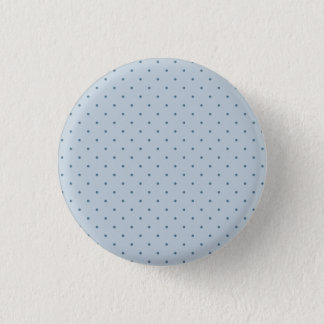 Blue Polka Dots on Lighter Blue 1 Inch Round Button