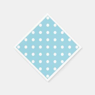 Blue Polka Dots Paper Napkin